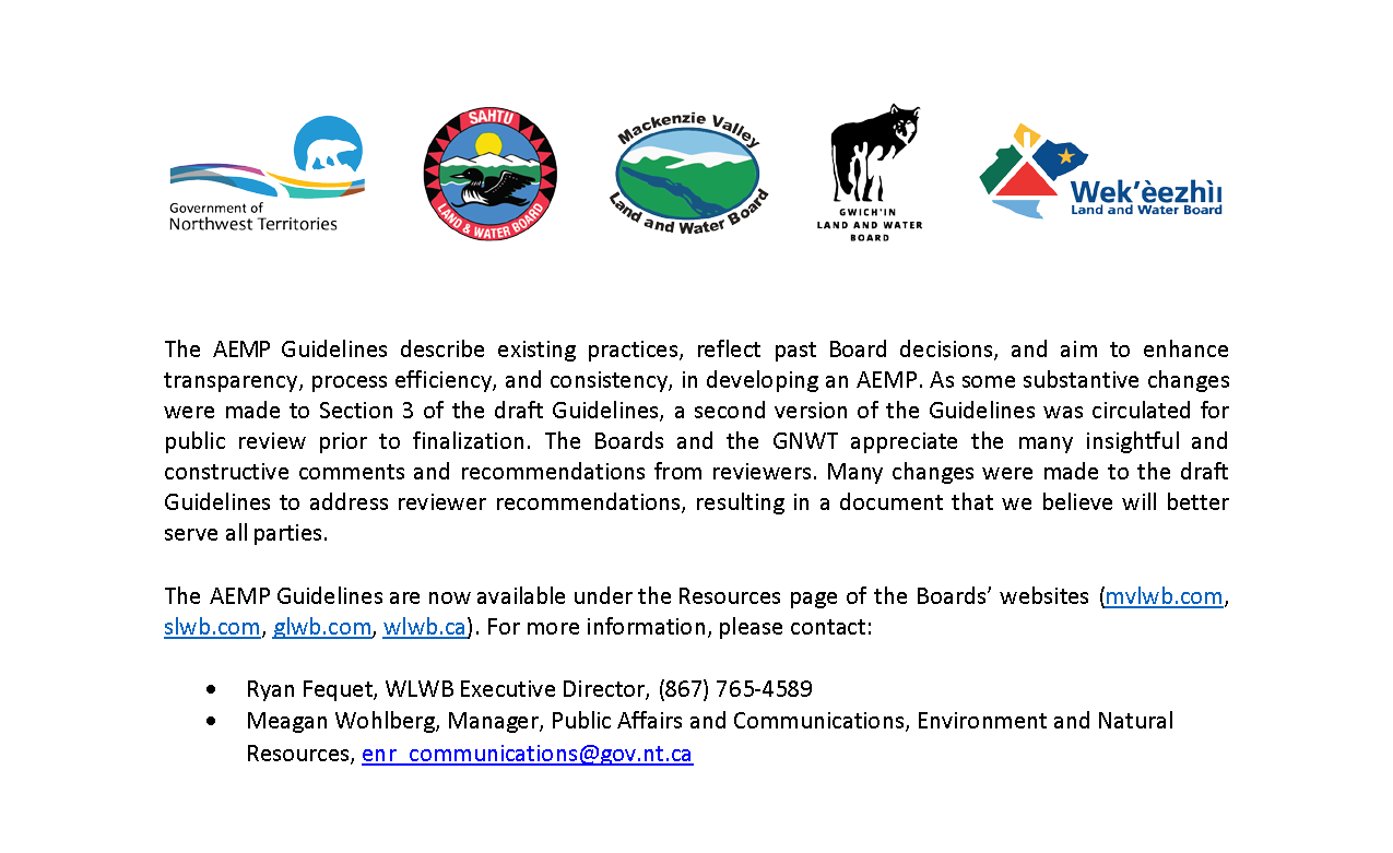 AEMP Guidelines - News Release Mar 5 2019